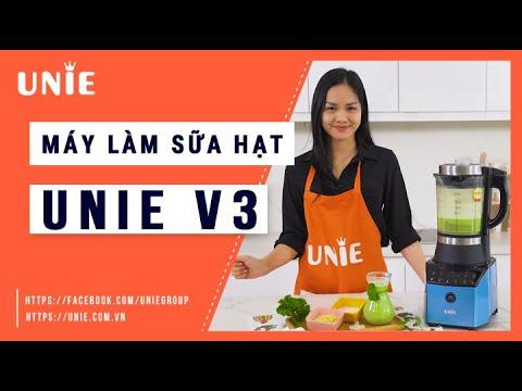 Máy Làm Sữa Hạt Unie V3 -Tặng 3 bình thủy tinh UNIE UN-100 và đậu gà
