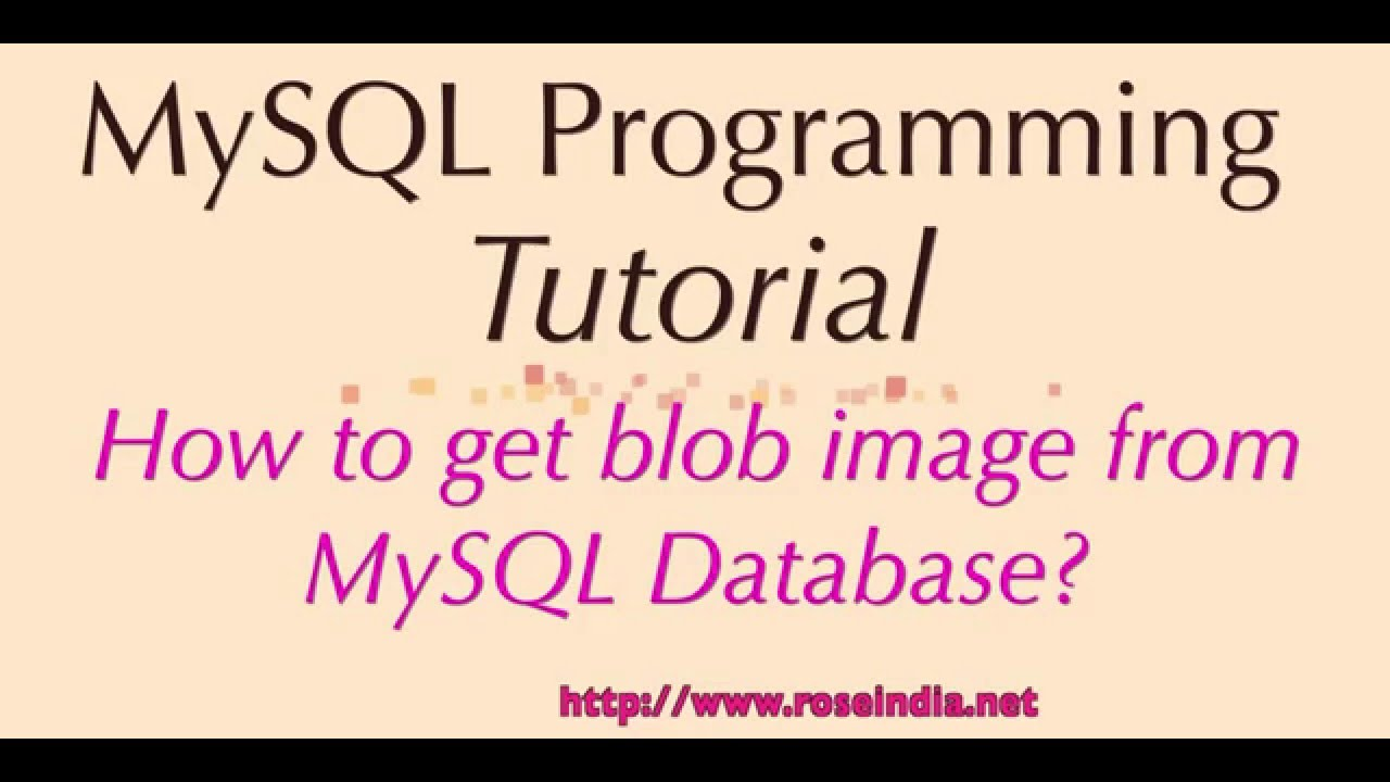 How to get blob image from MySQL Database?