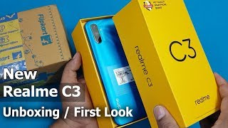Realme C3 Unboxing / First Look || 4Gb / 64Gb Rs.7999 New Realme C3
