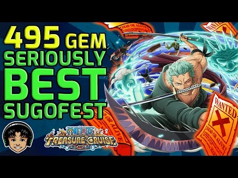 The GREATEST SUGOFEST of 2016! 495 Gems, A TRIPLE! [One Piece Treasure Cruise]