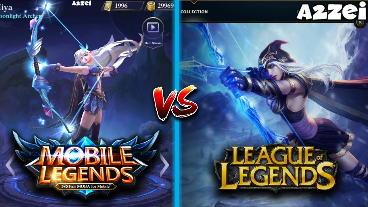 Mobile Legends Vs League Of Legends Side By Side Hero Comparison Youtube