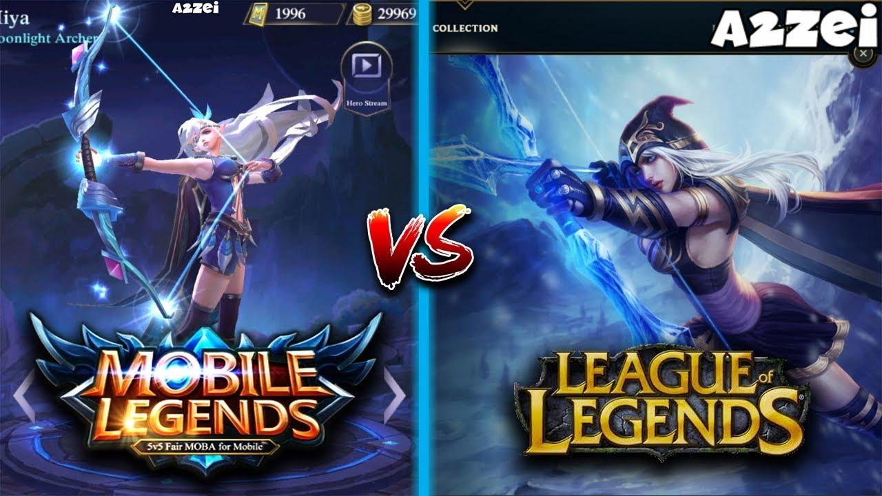 Mobile Legends vs League of Legends Side by Side Hero ...