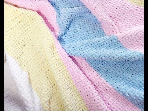 вязание детского пледа из пряжи ализе puffy