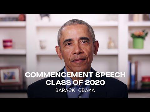 President Barack Obama's Commencement Speech To Class Of 2020 | Full Speech
