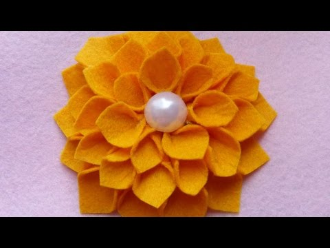 How To Make Yellow Felt Flower - DIY Crafts Tutorial - Guidecentral