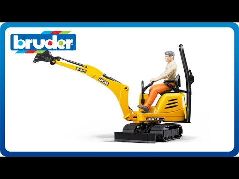 Bruder Toys JCB Micro Excavator 8010 CTS with Bworld Worker #62002