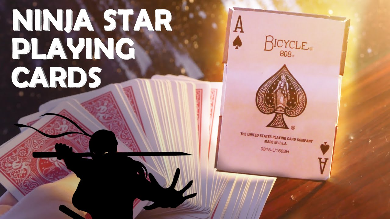 How To Make Ninja Star Playing Cards Hidden Razor Blades