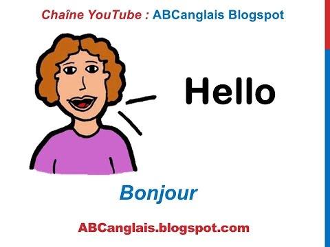Cours d'anglais 3 - Salutations Formules de politesse en Anglais Expressions Saluer Dire bonjour
