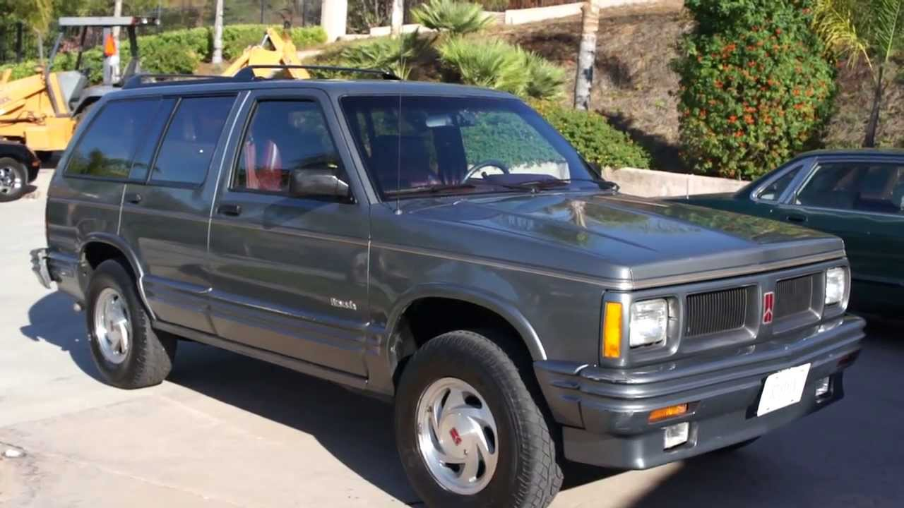 Bravada oldsmobile luxury suv crossover classic 1 owner 85k orig youtube