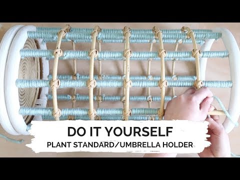 How to make a plant standard/umbrella holder | DIY | Furnlovers