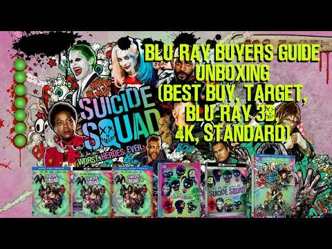 SUICIDE SQUAD: EXTENDED CUT UNBOXING (BEST BUY, TARGET, 3D, 4K, STANDARD) | BLURAY BUYERS GUIDE