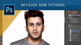 Photoshop Portrait retouch tutorial - Metallic skin
