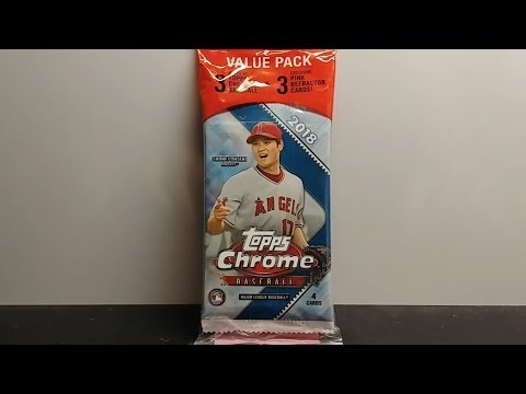 2018 Topps Chrome Baseball Cards Retail Value Hanger Pack Opening And Review