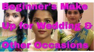 Simple South Indian Make Up look/Tamil ponnu look/Tamil youtuber/beyoudefining