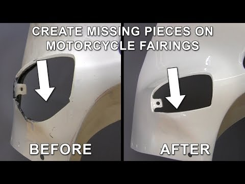 Create Missing Pieces on Cracked and Broken Street Bike Fairing