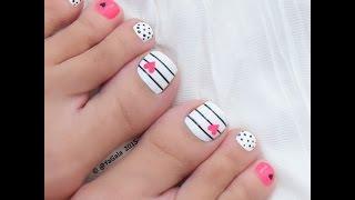 Kawaii toe nail art / Каваишный педикюр (дизайн)