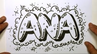 How to Draw Graffiti Letters - Write Ana in Bubble Letters | MAT