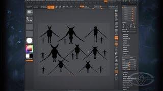 ZBrush Design - Dynamic Thumbnail Techniques - PREVIEW