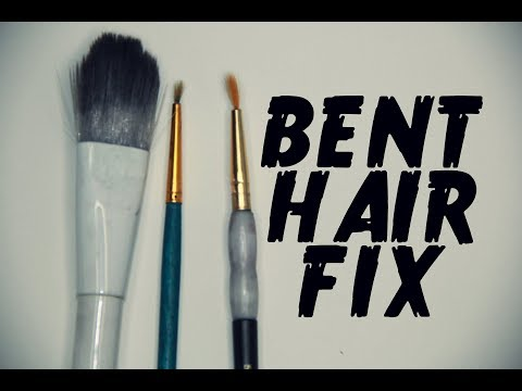 How to make paint brush pointed