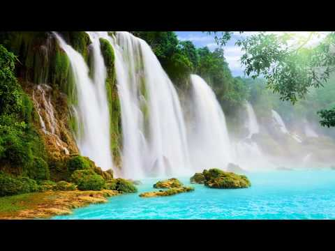 Водопады мира Природа Горы   Слайд Шоу с красивыми Фото Гор Водопадов и Музыкой для Релаксирования
