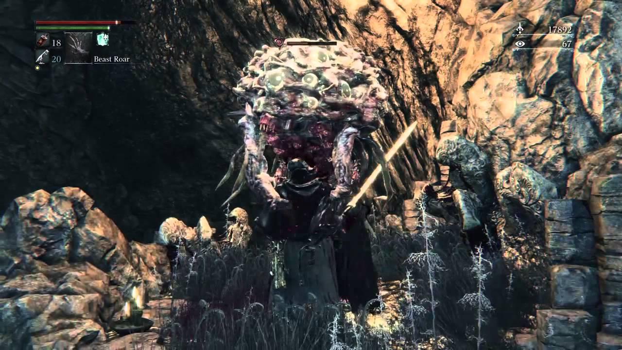 Bloodborne Grotesque Enemies Walking Brain Winter Lantern