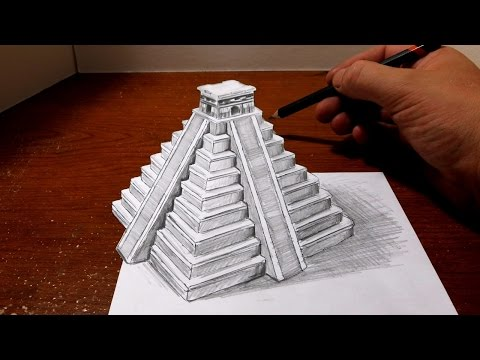 drawing-a-mayan-pyramid---optical-illusion