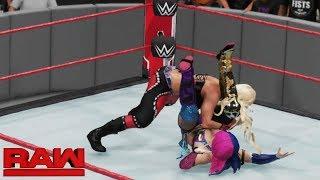 WWE 2K18 RAW DANA BROOKE VS ASUKA (RONDA ROUSEY INTERRUPTS)
