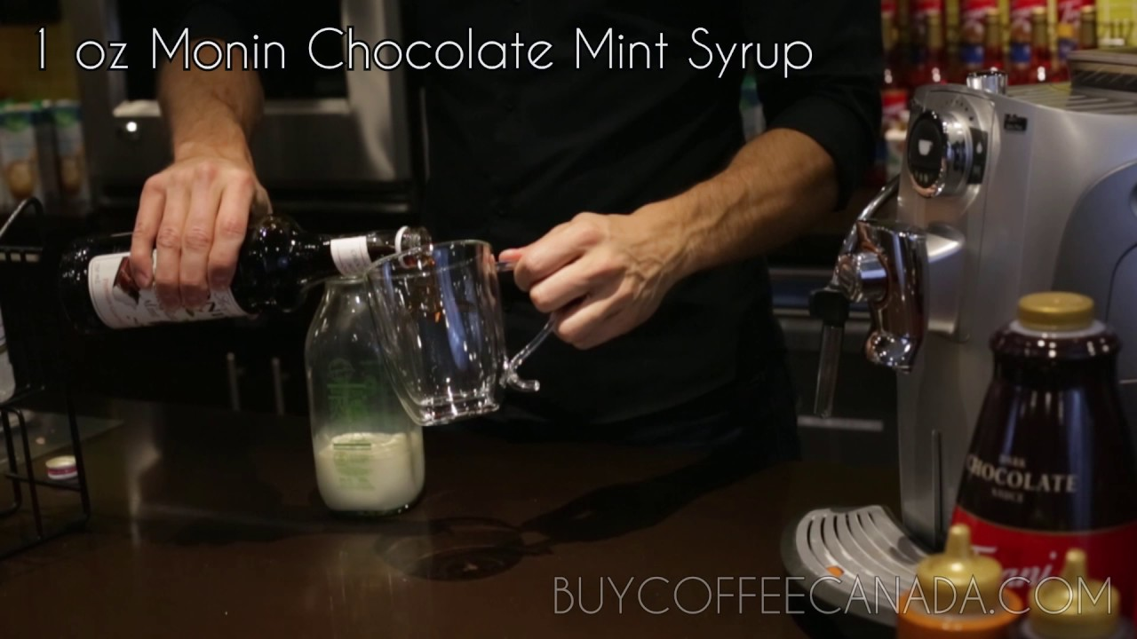 Monin Chocolate Mint Syrup Steamer from Buy Coffee Canada - YouTube