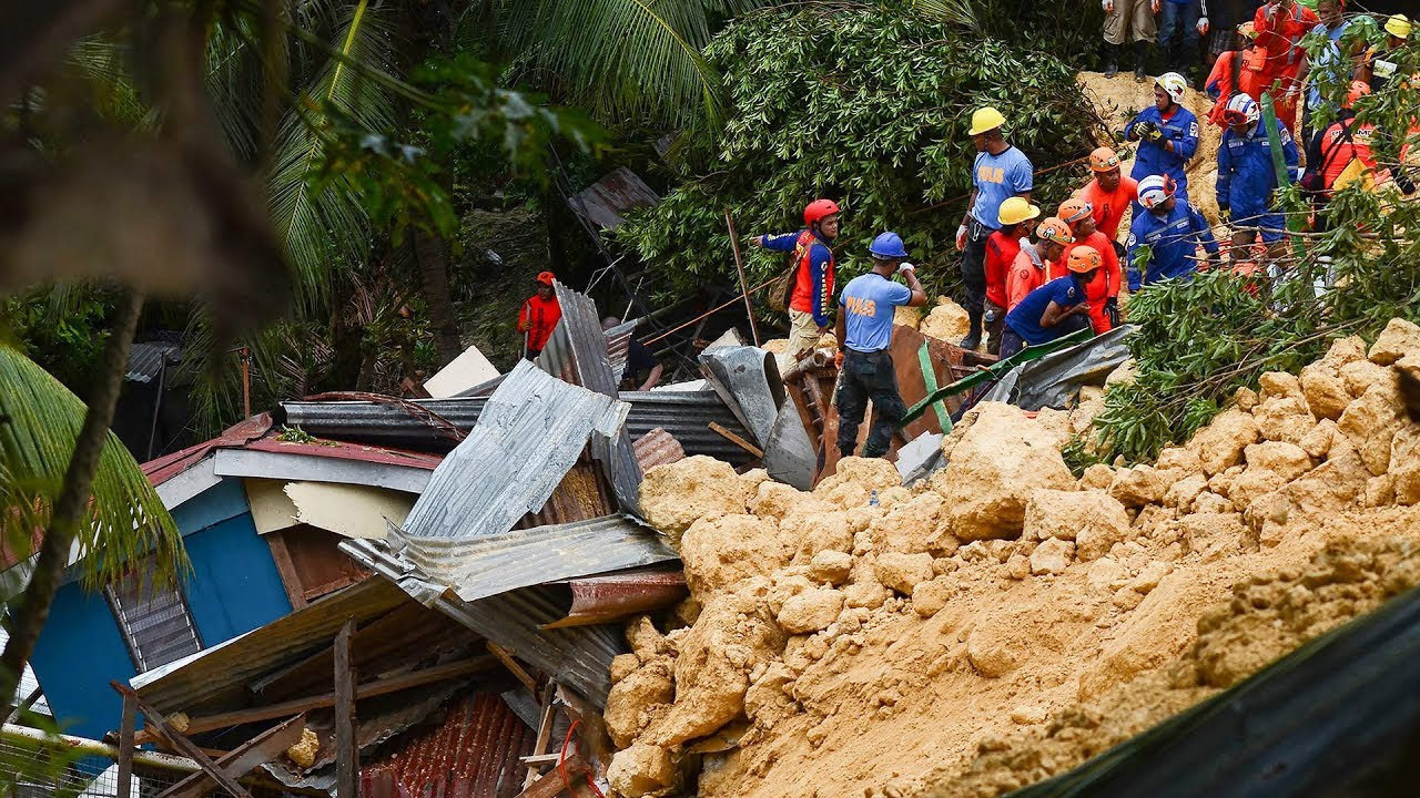 Landslide in Philippines kills four, dozens feared trapped