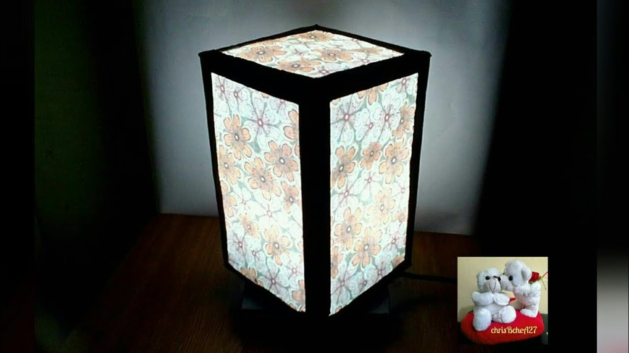 diy 45 lampshade 2 in 1 made of recycled carton box youtube