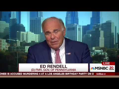 Ed Rendell: Hillary Clinton Didn't Lose Pennsylvania Because Voters Are Racist