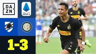 Inter siegt zum 6. Mal in Folge: Sampdoria Genua - Inter Mailand  1:3 | Serie A | DAZN Highlights