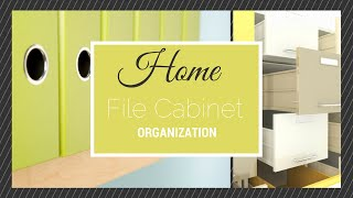 Home File Cabinet Organization