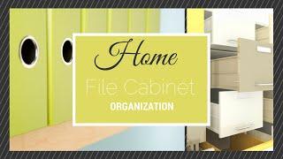 Home File Cabinet Organization