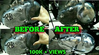 ROYAL ENFIELD ENGINE BUFFING AT HOME || DIY || BEST WAY ||