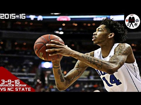 Brandon Ingram Full Highlights ACC Tourn vs NC State 2nd Rd (3-9-16) 22 Pts 7 Rebs 4 Asts, SO GOOD!