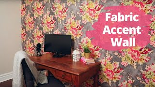 Fabric Accent Wall - Give your room a high-end look in under an hour! | Hometalk