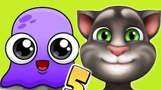 Video My Talking cat TOM vs Moy 5 Virtual Pet funny episode for kids download MP3, 3GP, MP4, WEBM, AVI, FLV Desember 2017