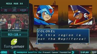 Mega Man X4 by ultrauberness in 49:51 AGDQ 2018 - Part 31