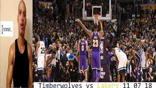 Timberwolves vs Lakers 11 07 REACTION  Lebron James Lonzo Chandler Hart Kuzma D Rose  Butler Jmvol