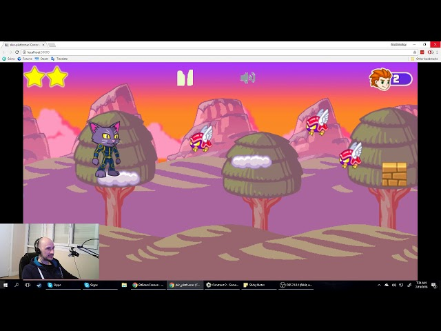 Full Stream Using Construct 2 to make games part 2