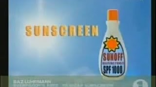 Watch Baz Luhrmann Sunscreen video