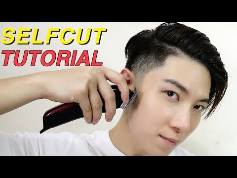 EASY HAIRCUT BY YOURSELF | TAPER FADE + KOREAN TWO BLOCK CUT TUTORIAL | 自己剪頭髮 | ISSAC YIU