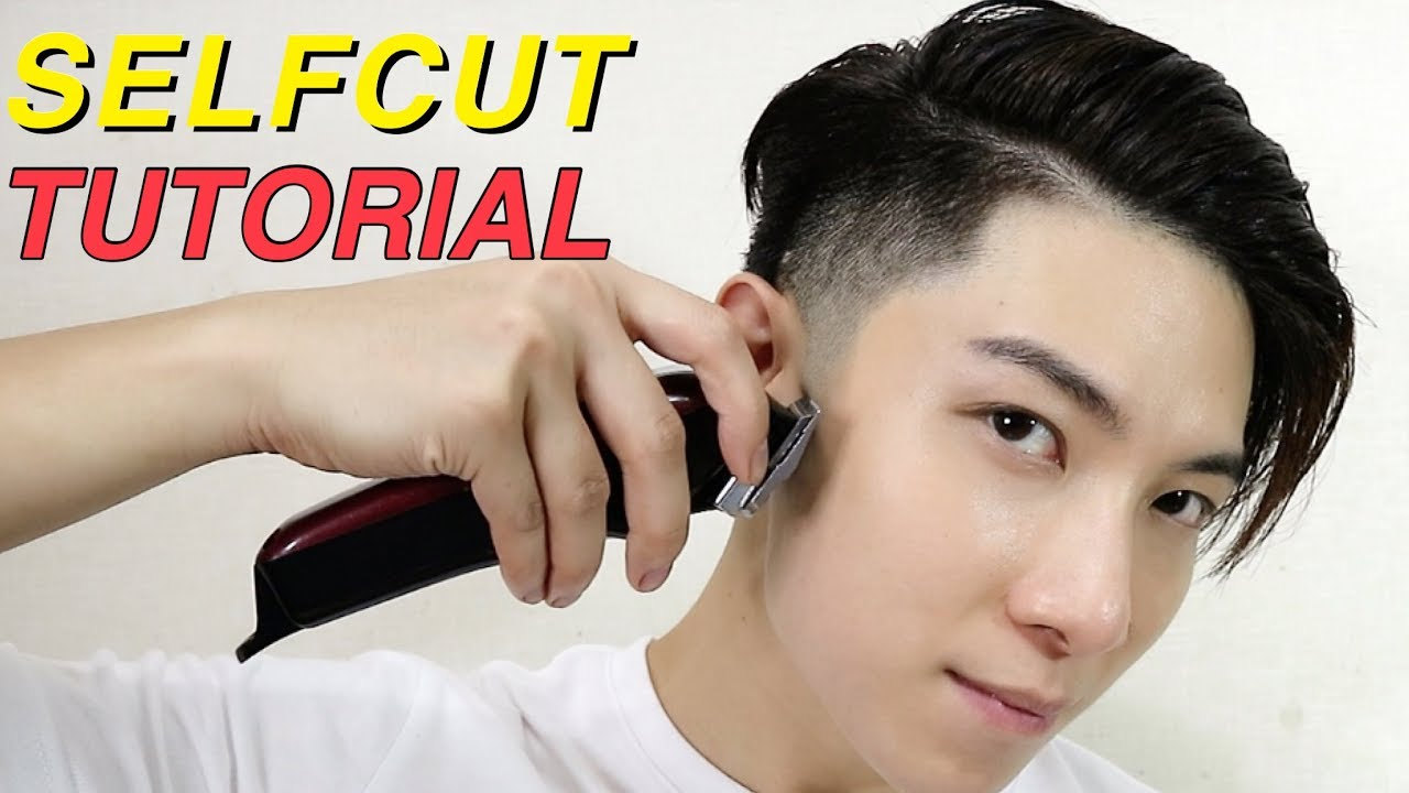 Easy Haircut By Yourself Taper Fade Korean Two Block Cut