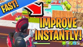 EASILY Improve/Get Better in Fortnite! Fortnite Ps4/Xbox Solo! (How To Win Solo Fortnite Tips)