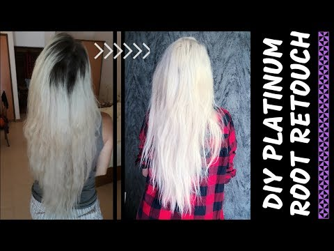 DIY PLATINUM BLONDE REGROWTH TOUCH UP