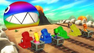 Mario Party 9 - Minigames - Mario vs Luigi vs Peach vs Daisy (Master CPU)