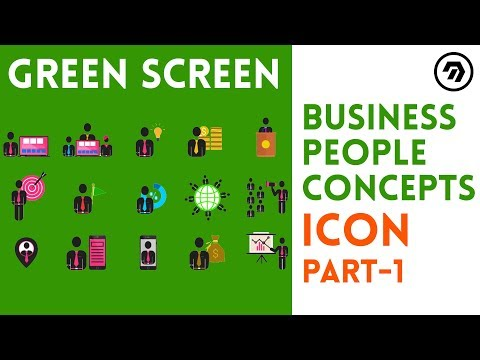 Green Screen Business people Concepts Icon Part 1 | mrstheboss