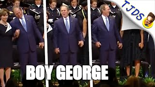 George W Bush Clowns Around During Dallas Police Memorial