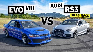 AWD Power Battle: Audi RS3 vs. Mitsubishi Evo // This vs. That